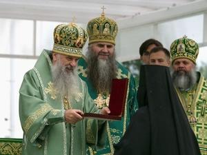 Икону блаженной Ксении Петербургской подарил владыка Варсонофий Серафимо-Дивеевскому монастырю