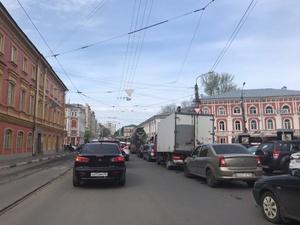 Генеральная репетиция парада в Нижнем Новгороде спровоцировала большие пробки