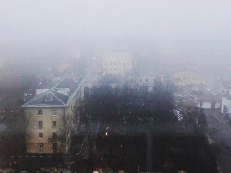 Туман окутал Нижний Новгород утром 11 декабря - фото 1
