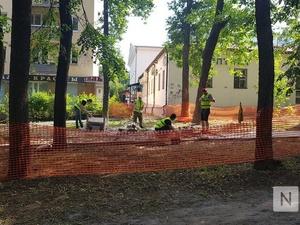 Работы в сквере имени 1905 года завершат к 3 августа