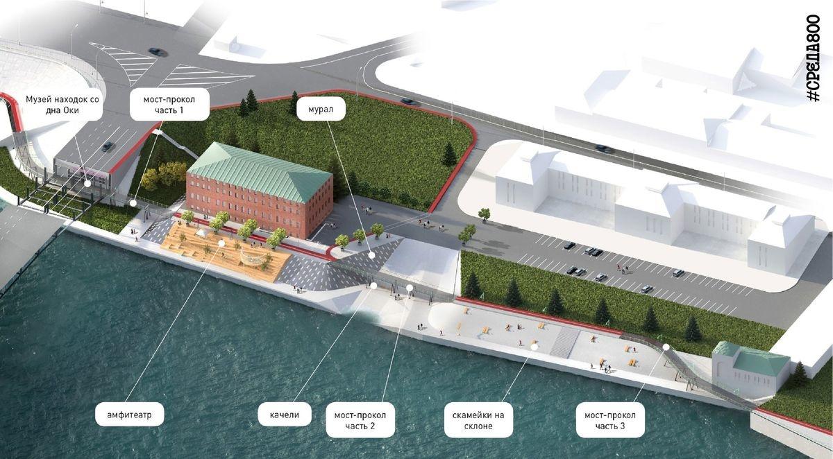 Музей находок со дна Оки и ринг появятся на обновленной Окской набережной - фото 3