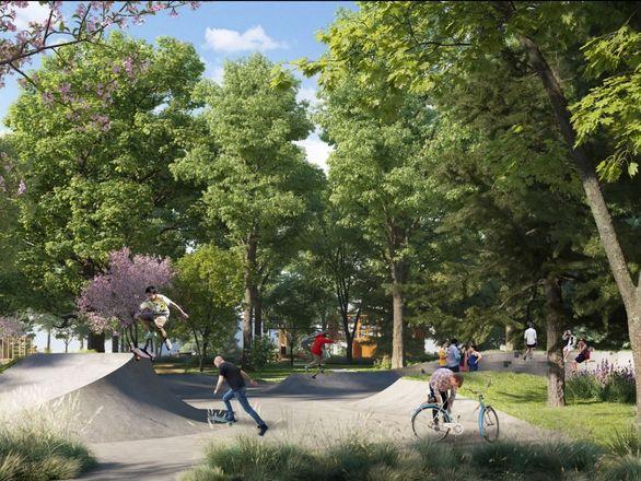 Индустриальные арт-объекты, скейт-парк и перголы: представлена итоговая концепция площади Героев - фото 5