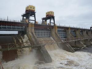 Уровень притока воды снижается на Нижегородской ГЭС