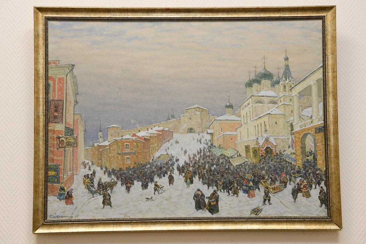 Выставка художника Рудольфа Соснина открылась в Законодательном собрании Нижегородской области - фото 1