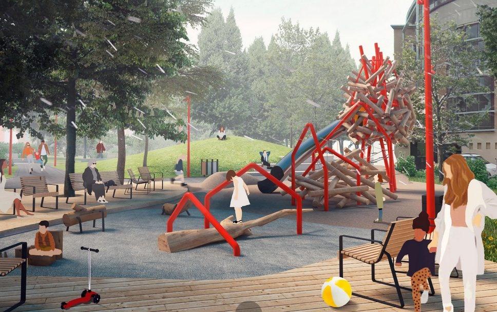 Нижегородцы обеспокоены небезопасностью детской площадки в сквере Свердлова - фото 2