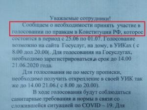 Соцсети: шахунских учителей просят отчитываться о голосовании по Конституции