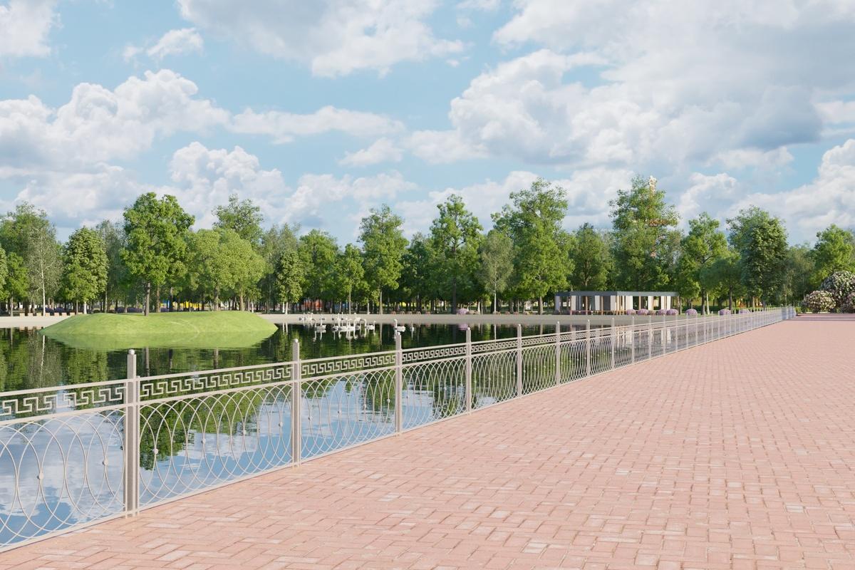 Новую ограду для замков молодоженов смонтируют вокруг озера в Сормовском парке - фото 1