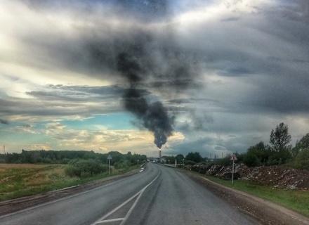 Яркий факел на кстовском заводе переполошил нижегородцев