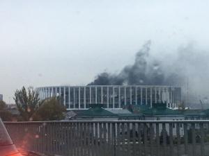 На стадионе «Нижний Новгород» вспыхнул пожар из-за сварочных работ (ФОТО)
