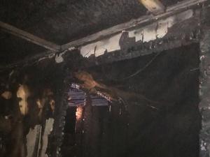 На ночном пожаре на Бору погиб человек