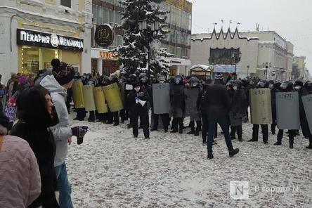Протестный митинг сторонников Навального начался в Нижнем Новгороде