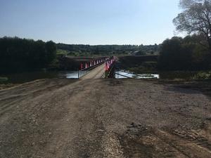 Пять мостов помогли возвести дзержинские военные в Тульской области