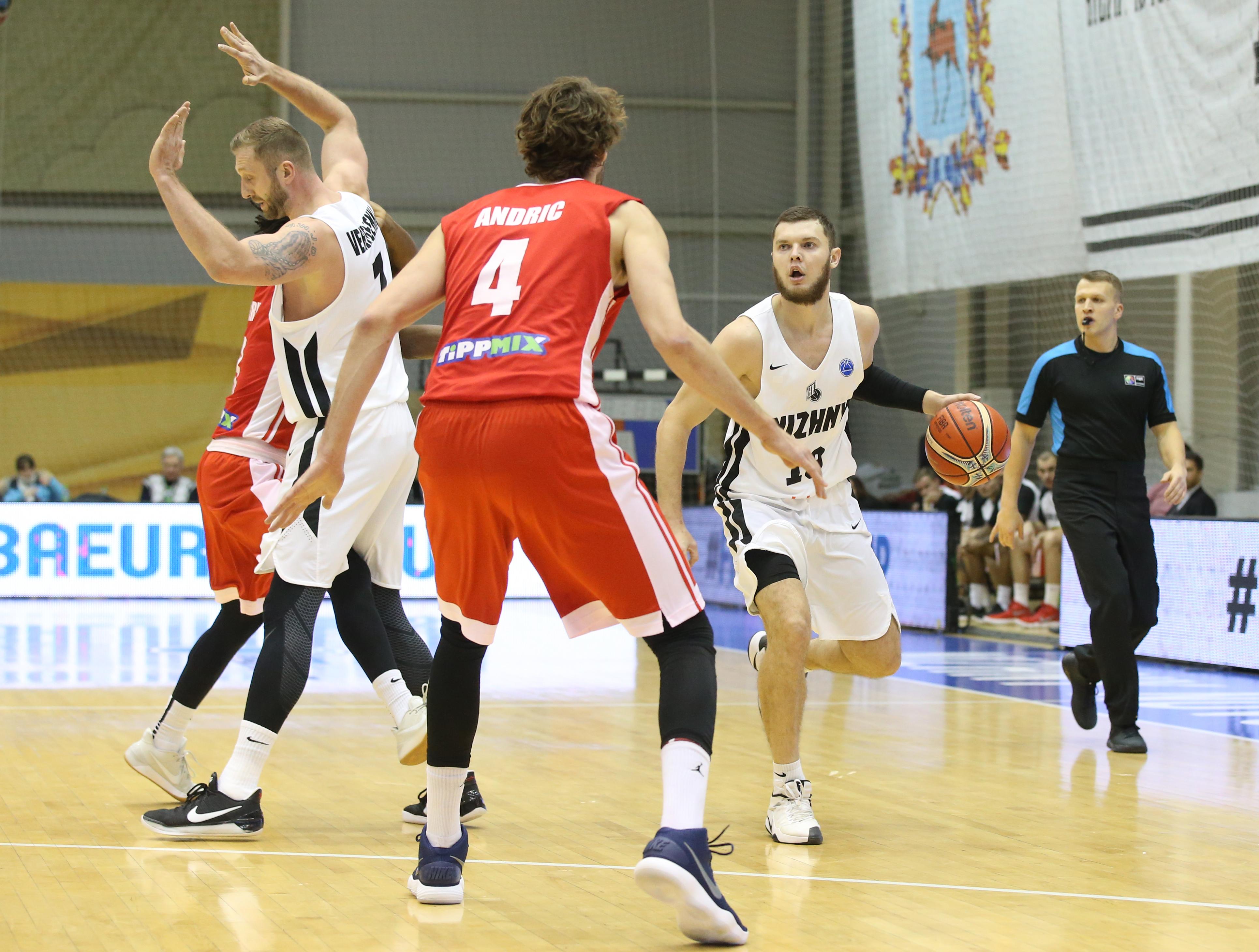 Баскетбольный клуб «Нижний Новгород» переиграл венгерский «Сольноки Олай»