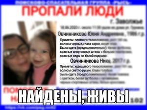Пропавшие в Заволжье женщина с ребенком нашлись живыми