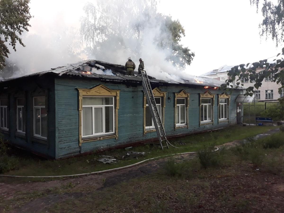 Поликлиника сгорела на Бору - фото 1